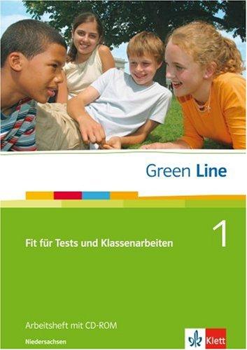 9783125473010: Green Line 1. Fit für Tests und Klassenarbeiten. Arbeitsheft und CD-ROM mit Lösungsheft. Niedersachsen