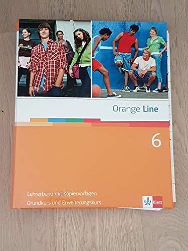 9783125475632: Orange Line Grundkurs + Erweiterungskurs Lehrerband mit Kopiervorlagen Band 6