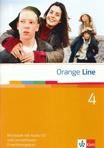 9783125476486: Orange Line 4. Erweiterungskurs Klasse 8. Workbook mit Audio-CD und Lernsoftware