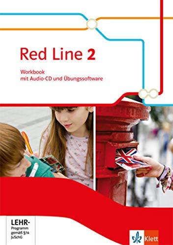 9783125477827: Red Line 2. Workbook mit Audio-CD und Übungssoftware 6. Schuljahr