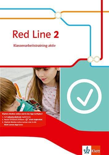 9783125477926: Red Line 2. Klassenarbeitstraining aktiv mit Multimedia-CD. Klasse 6
