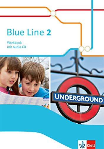 9783125488823: Blue Line. Workbook mit Audio-CD