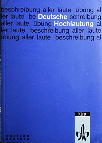 9783125584006: Deutsche Hochlautung