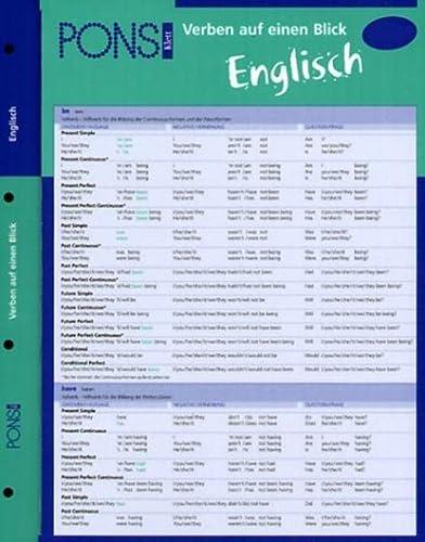 9783125606593: PONS Verben auf einen Blick. Englisch.