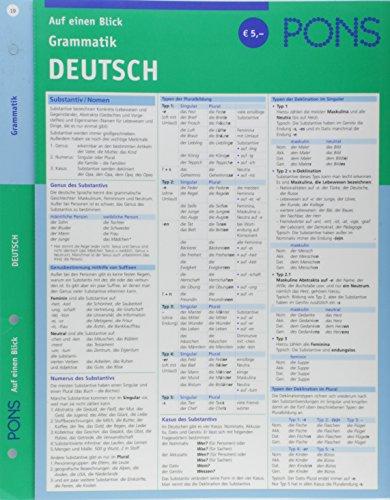 9783125607019: PONS Grammatik auf einen Blick. Deutsch