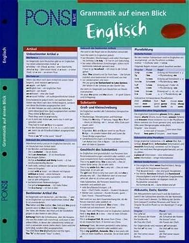 PONS Grammatik auf einen Blick. Englisch: Corinna Löckle-Götz, Sheila