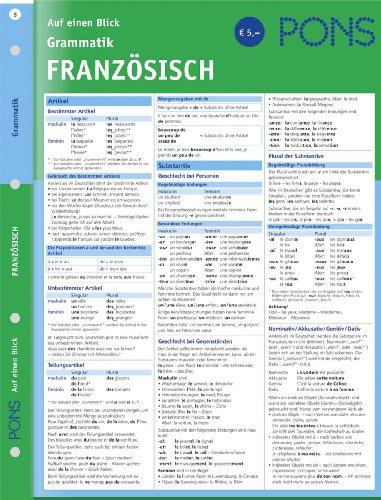 9783125607033: PONS Grammatik auf einen Blick. Französisch
