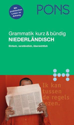 9783125608702: PONS Grammatik Niederländisch