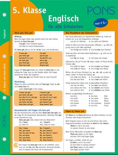 9783125610217: PONS Englisch auf einen Blick 5. Klasse