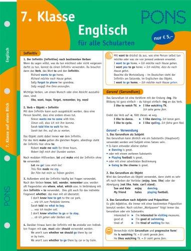 9783125610231: PONS Englisch auf einen Blick 7. Klasse
