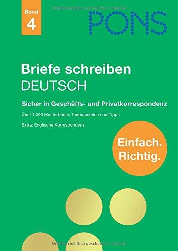 9783125610873: PONS Briefe schreiben Deutsch: Sicher in Geschäfts- und Privatkorrespondenz