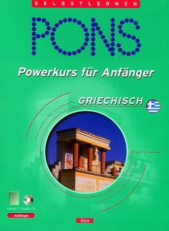 9783125610897: PONS Powerkurs für Anfänger. Griechisch. Buch und CD. (Lernmaterialien)