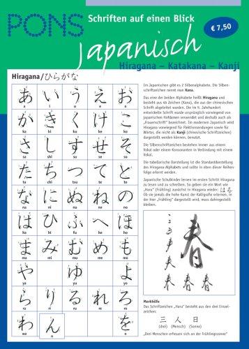 9783125612297: PONS Schriften auf einen Blick. Japanisch. Hiragana - Katakana - Kanji