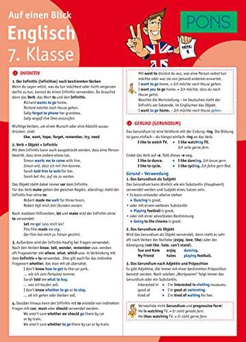9783125617179: PONS Deutsch auf einen Blick Kl. 7.