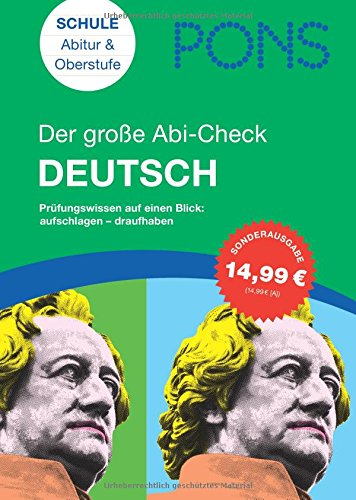 9783125618510: PONS Der große Abi-Check Deutsch: Prüfungswissen auf einen Blick