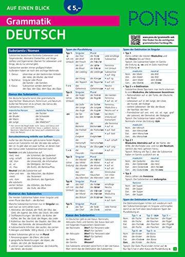 9783125618978: PONS Grammatik auf einen Blick Deutsch (PONS Auf einen Blick)
