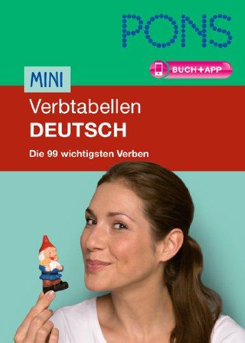 9783125619258: PONS Mini Verbtabellen Deutsch