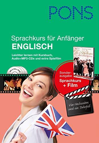 9783125619418: PONS Sprachkurs für Anfänger Englisch: Leichter lernen mit Buch, Film und Audio-CDs