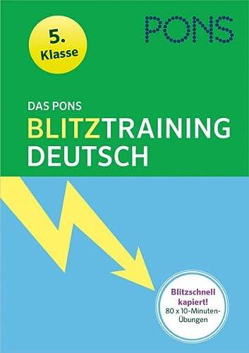 9783125625327: Das PONS Blitztraining - Deutsch 5. Klasse