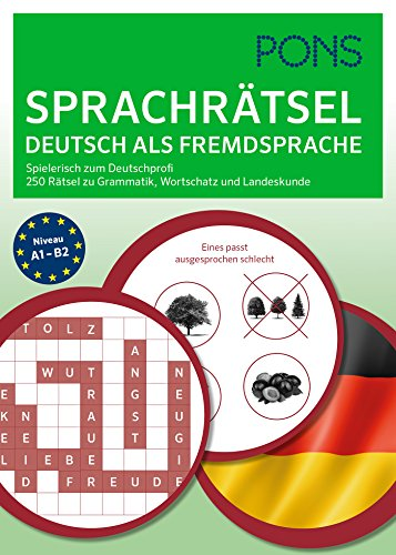 9783125627093: PONS 250 Rätsel Deutsch als Fremdsprache: Fit durch Rätsel-Übungen mit dem Quiz-Block zu Grammatik, Wortschatz und Landeskunde