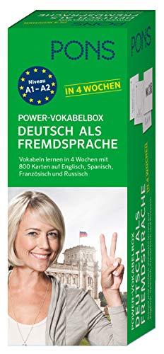 9783125627161: PONS Power-Vokabelbox Deutsch als Fremdsprache in 4 Wochen