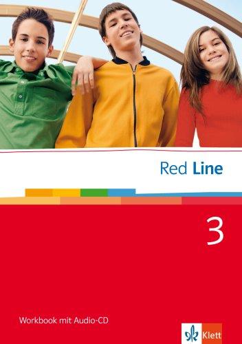 9783125811355: Red Line 3. Workbook mit Audio-CD