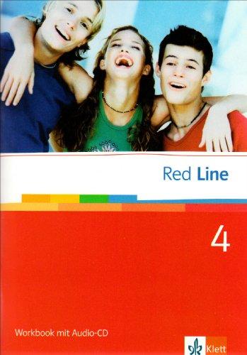 9783125811454: Red Line 4. Workbook mit Audio-CD