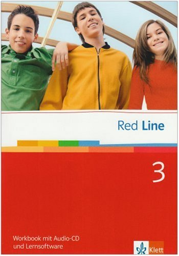 9783125812352: Red Line 3. Workbook mit Audio-CD und Lernsoftware