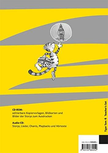 9783125884052: Tiger Tom. Teacher's Book mit 2 Audio-CDs und CD-ROM. 4. Schuljahr. Nordrhein-Westfalen und Hamburg