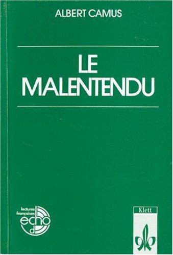 9783125981102: Le Malentendu.