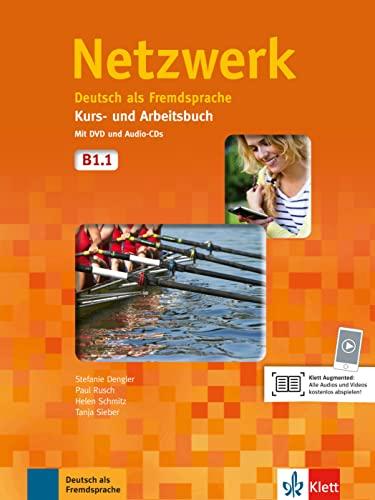 9783126050142: Netzwerk. B1.1. Kursbuch-Arbeitsbuch. Per le Scuole superiori. Con CD Audio. Con DVD-ROM