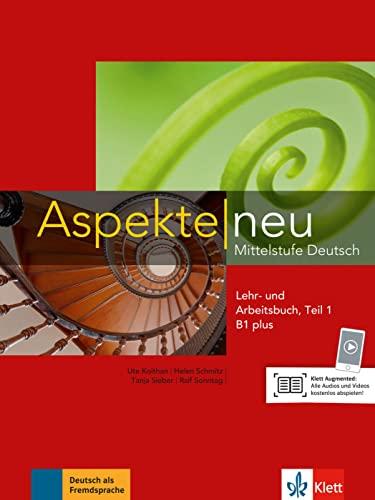 9783126050180: Aspekte in Halbbanden: Lehr- Und Arbeitsbuch B1 Plus Teil 1 MIT CD