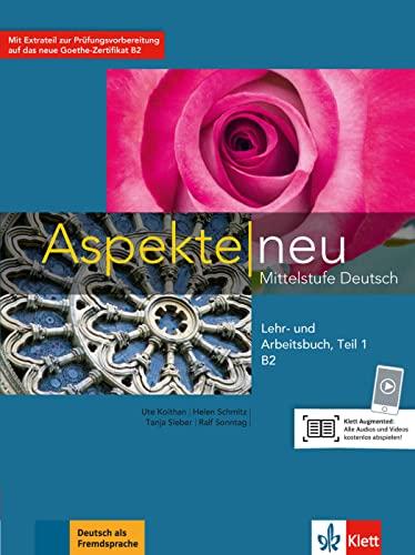 9783126050272: Aspekte Neu in Halbbanden: Lehr- Und Arbeitsbuch B2 Teil 1 Mit CD