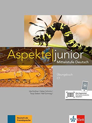 9783126052597: Aspekte junior C1. Übungsbuch mit Audios zum Download: Mittelstufe Deutsch