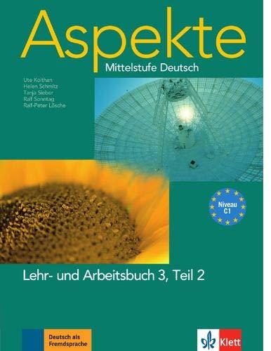 9783126060240: Aspekte 3 (C1) in Teilbänden - Lehr- und Arbeitsbuch 3, Teil 2: Mittelstufe Deutsch