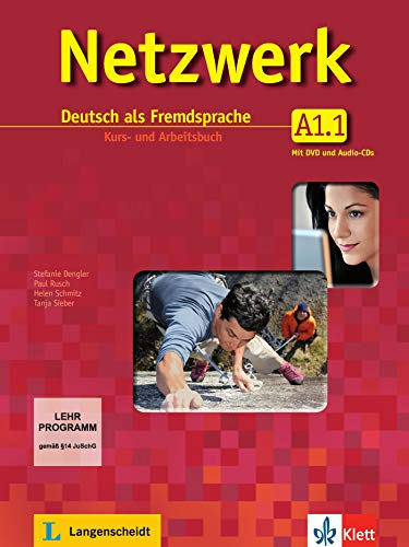 9783126061315: Netzwerk A1 in Teilbänden - Kurs- und Arbeitsbuch, Teil 1 mit 2 Audio-CDs und DVD : Deutsch als Fremdsprache