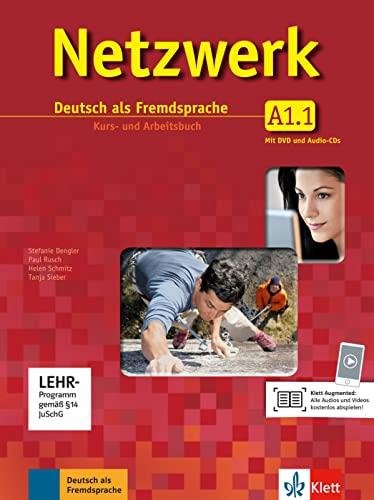 9783126061315: Netzwerk A1 in Teilbänden - Kurs- und Arbeitsbuch, Teil 1 mit 2 Audio-CDs und DVD: Deutsch als Fremdsprache [Lingua tedesca]