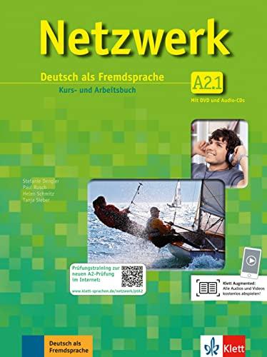 9783126061421: Netzwerk A2. Kursbuch. Arbeitsbuch. Con espansione online. Per le Scuole superiori. Con CD Audio e DVD-ROM: Netzwerk a2, libro del alumno y libro de ejercicios, parte 1 + 2 cd + dvd