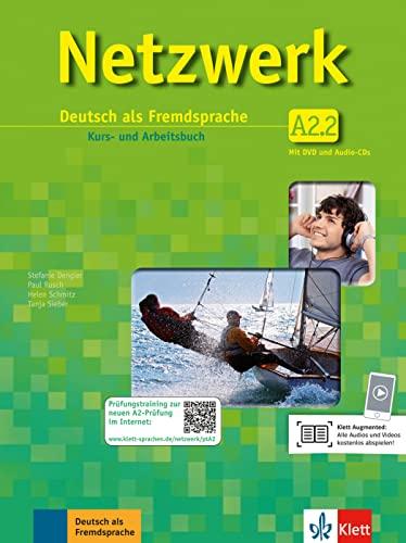 9783126061438: Netzwerk A2. Kursbuch-Arbeitsbuch. Con espansione online. Per le Scuole superiori. Con CD Audio e DVD-ROM: Netzwerk a2, libro del alumno y libro de ejercicios, parte 2 + 2 cd + dvd
