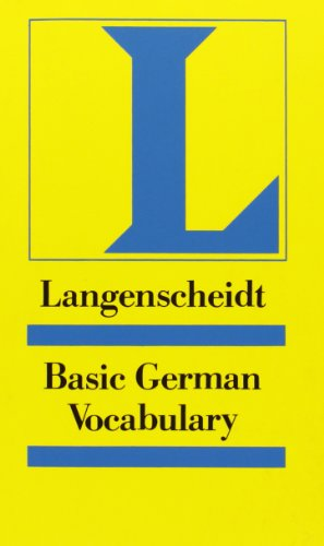 Langenscheidts Grundwortschatz Deutsch: Basic German Vocabulary (9783126063739) by [???]