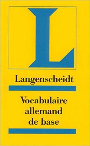 9783126063746: Langenscheidt Grundwortschatz Deutsch - Vocabulaire allemand de base