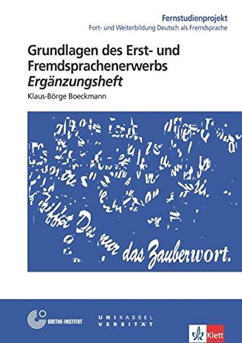 9783126064866: Grundlagen DES Erst- Und Fremdsprachenerwerbs