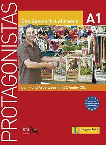 9783126066297: Protagonistas A1 - Lehr- und Arbeitsbuch mit 2 Audio-CDs