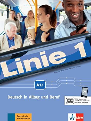 9783126070508: Linie 1 A1. Kurs- und Übungsbuch mit DVD-ROM, Teil 1: Kurs- und Ubungsbuch A1.1 mit DVD-Rom