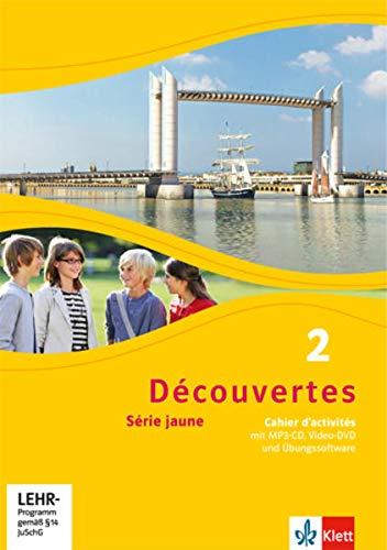 9783126220255: Découvertes Série jaune 2. Cahier d'activités mit CD-ROM, MP3-CD und Video-DVD