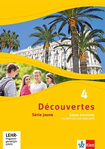 9783126220460: Découvertes 4. Série jaune (ab Klasse 6). Cahier d'activités mit MP3-CD und Video-DVD