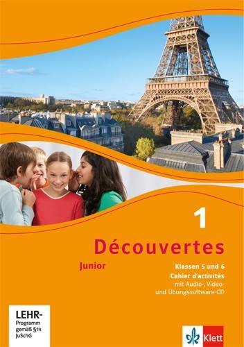 9783126222150: Découvertes. Cahier d'activités mit Audio-CD (MP3 für PC), DVD mit Filmsequenzen und Übungssoftware Klasse 5: Junior (ab Klasse 5)