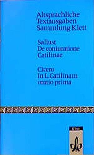 9783126430005: De coniuratione Catilinae: Cicero: In L. Catilinam oratio prima
