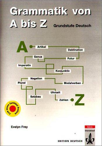 9783126753128: Grammatik von A bis Z. Grundstufe Deutsch. Kurz, klar und kompakt. (Lernmaterialien)