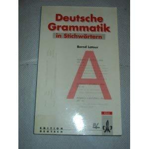 9783126753142: Deutsche Grammatik in Stichw�rtern.
